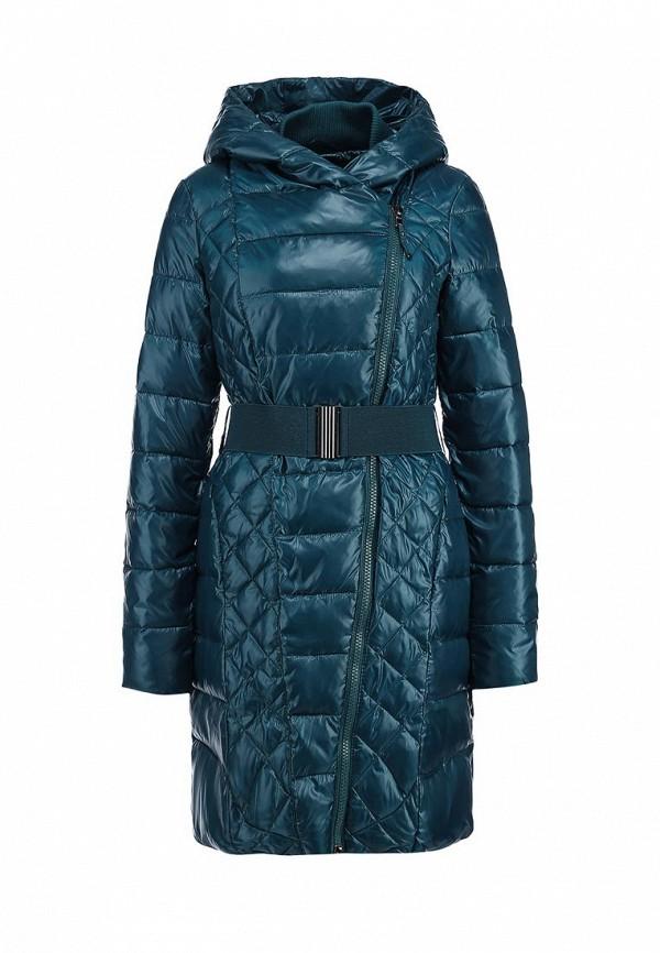Женская зеленая утепленная осенняя куртка