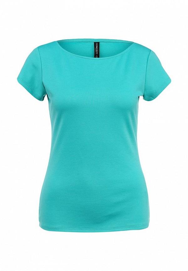 Бирюзовая футболка женская