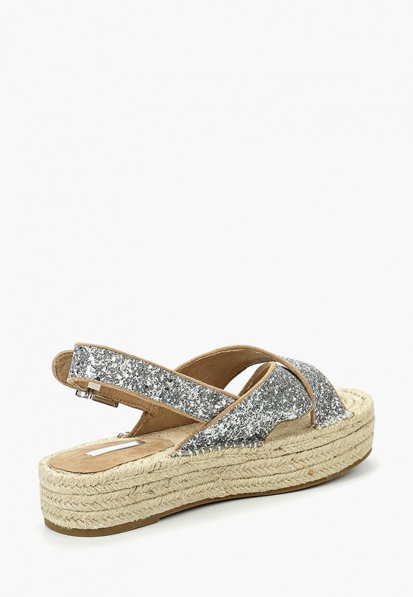Фото 7 - женские сандали Corina серебрянного цвета