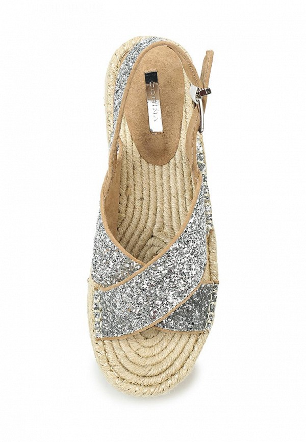 Фото 4 - женские сандали Corina серебрянного цвета