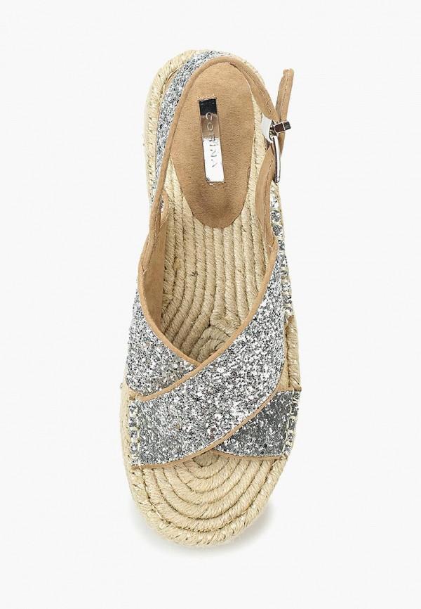 Фото 9 - женские сандали Corina серебрянного цвета
