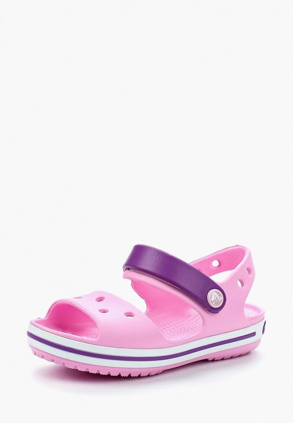 Купить Сандалии Crocs, Crocband Sandal Kids, CR014AGARRM0, розовый, Весна-лето 2018