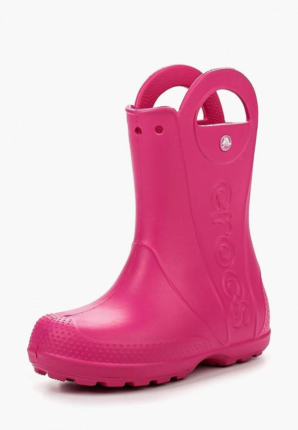 Резиновые сапоги Crocs цвет розовый сезон весна, демисезон, лето страна Вьетнам размер 35