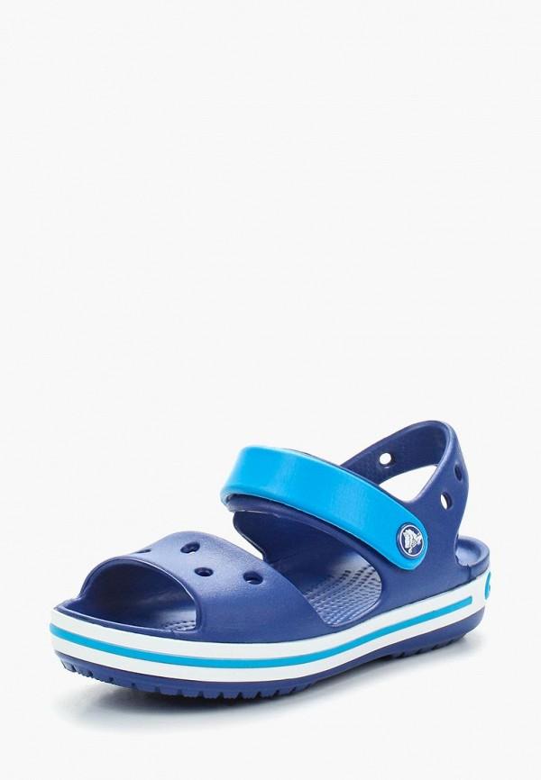 Купить Сандалии Crocs, Crocband Sandal Kids, CR014AKARRL8, синий, Весна-лето 2018