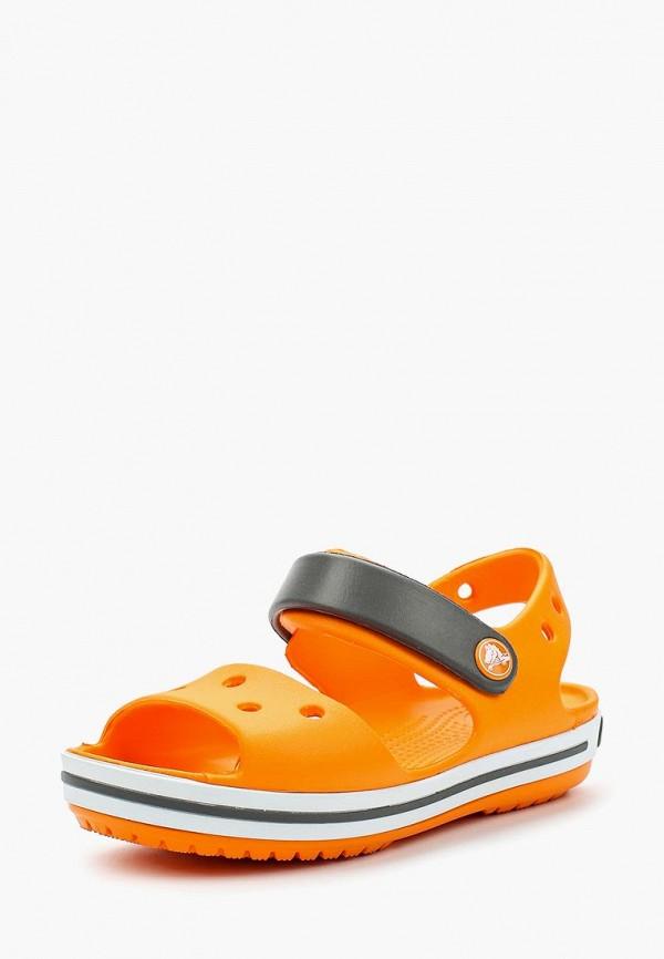 Купить Сандалии Crocs, Crocband Sandal Kids, CR014AKARRM1, оранжевый, Весна-лето 2018