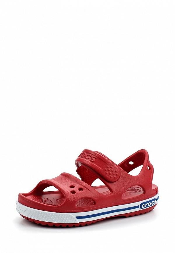 Купить Сандалии Crocs, Crocband II Sandal PS, CR014AKARRM5, красный, Весна-лето 2018