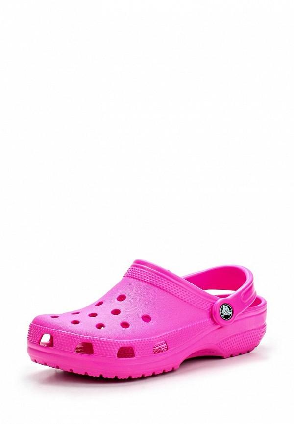 Женские сабо на плоской подошве Crocs (Крокс) 10001-6L0