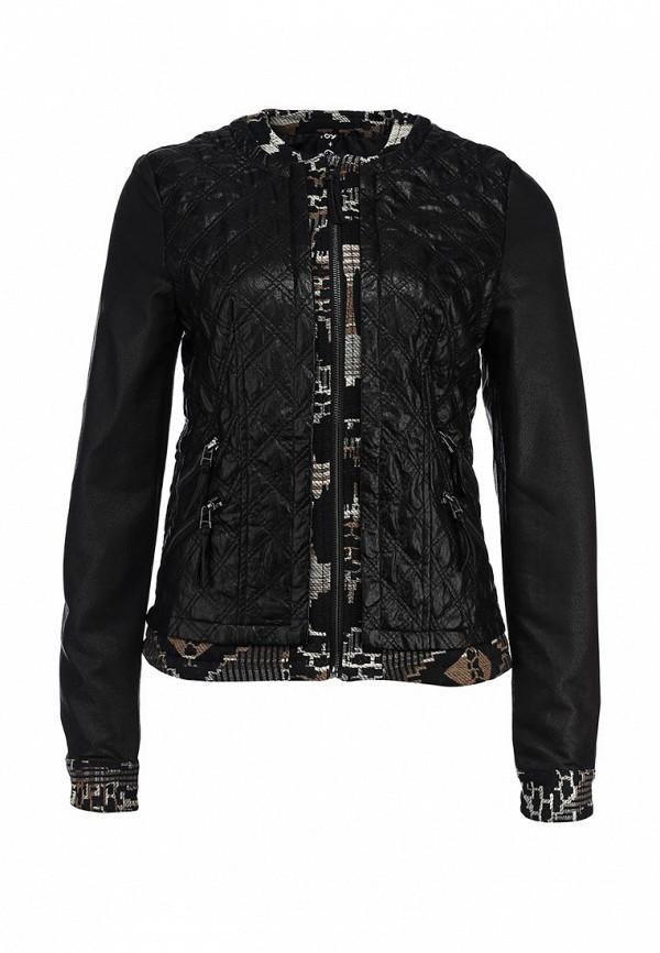 Куртка кожаная Desigual DE002EWCEE84. Цвет: черный