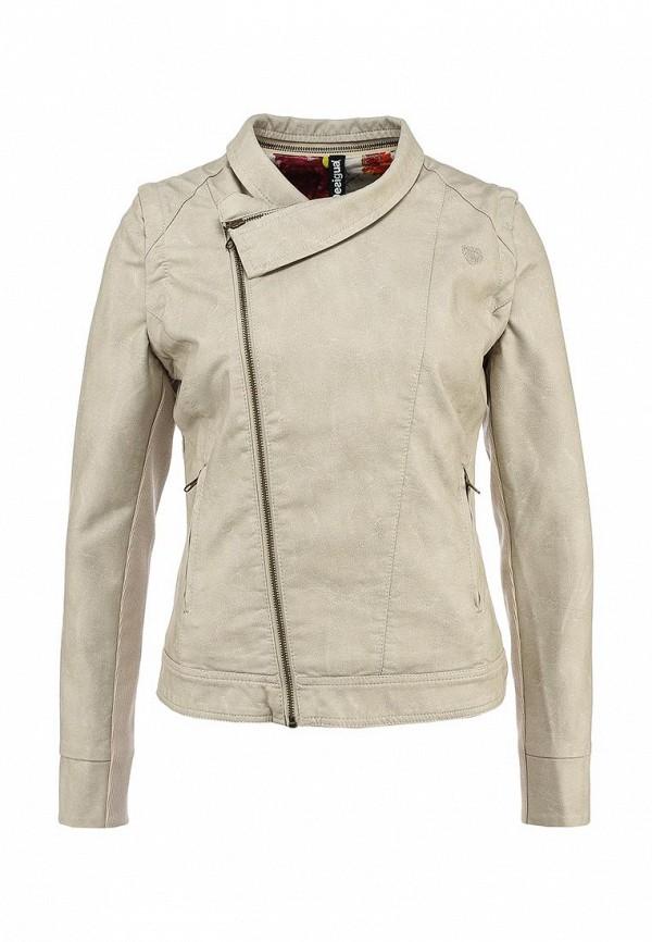 Куртка кожаная Desigual. Цвет: разноцветный