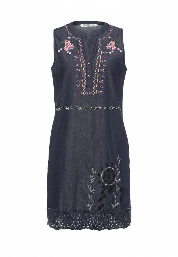 Платье джинсовое Desigual Desigual DE002EWOQR03 платье desigual desigual de002ewoqr00