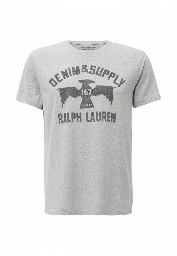 Футболка с надписями Denim & Supply Ralph Lauren M16D0017D0024ABSSL