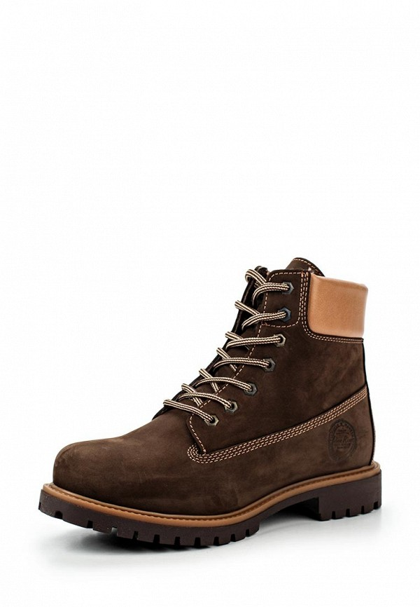 Ботинки коричневые мужские зима
