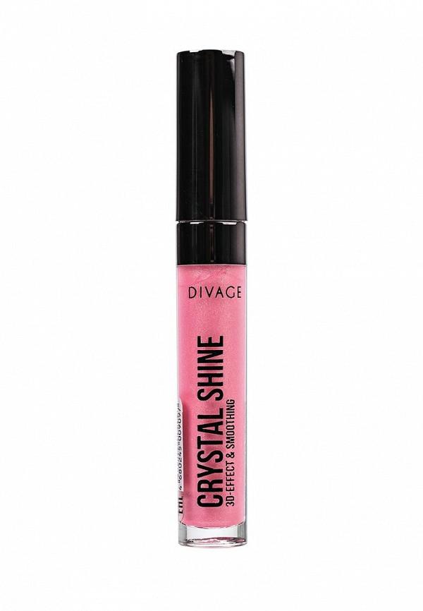 Блеск Divage для губ с сияющими частицами Lip Gloss Crystal Shine № 10