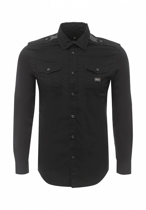 Купить мужскую рубашку Diesel черного цвета