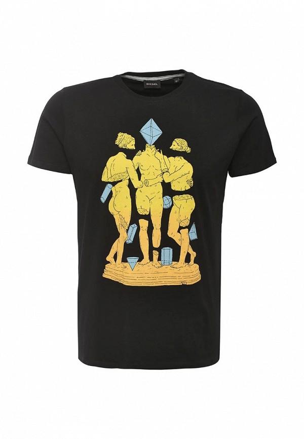 Купить мужскую футболку Diesel черного цвета