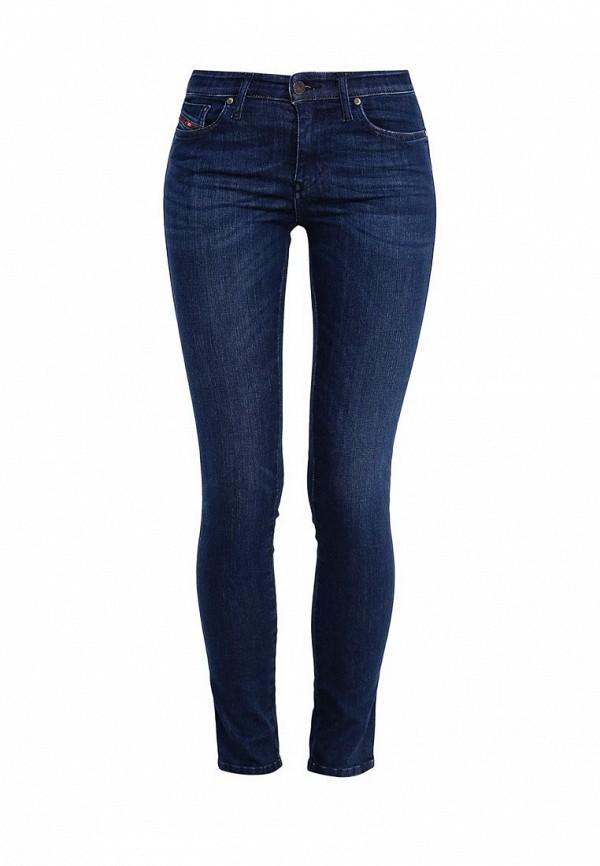 Купить женские джинсы Diesel синего цвета