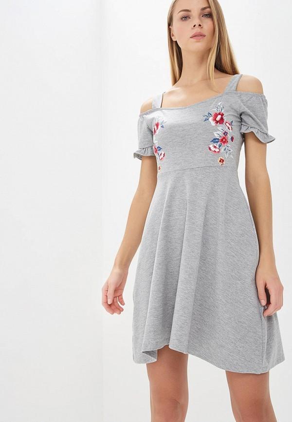 Купить Платье Dorothy Perkins, DO005EWBBXN1, серый, Весна-лето 2018