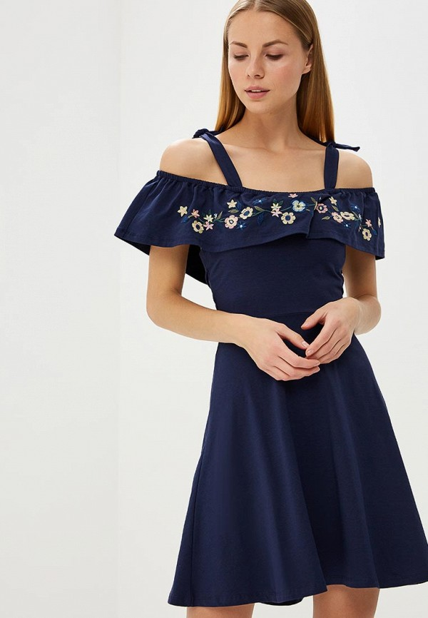 Платье Dorothy Perkins, DO005EWBONJ6, синий, Весна-лето 2018  - купить со скидкой