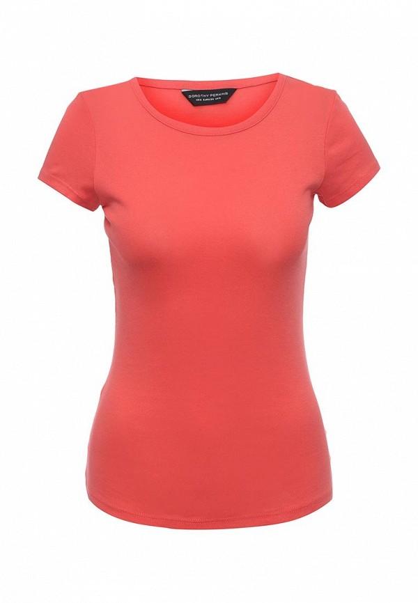 Купить женскую футболку Dorothy Perkins кораллового цвета