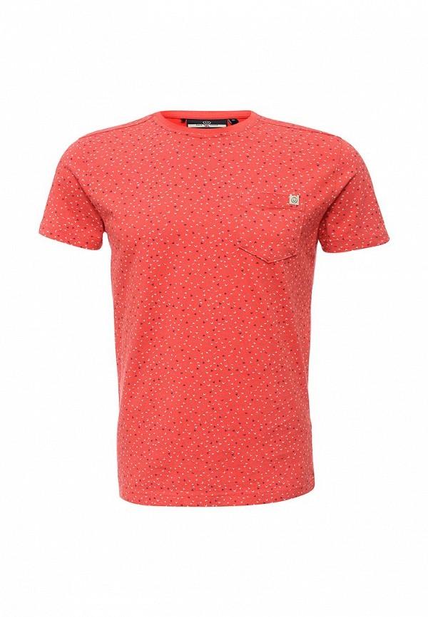 Купить мужскую футболку Duck and Cover кораллового цвета