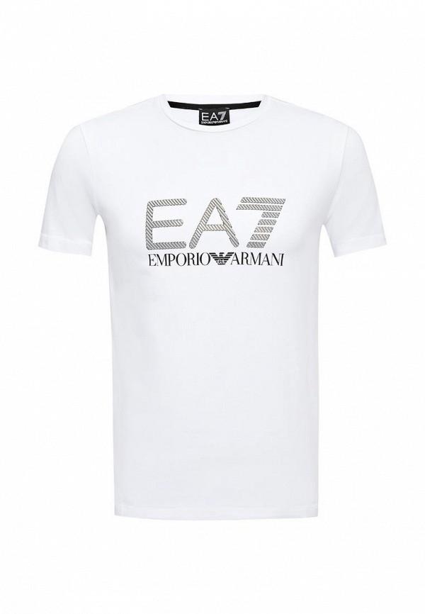 Футболка с надписями EA7 6XPTA6 PJ18Z