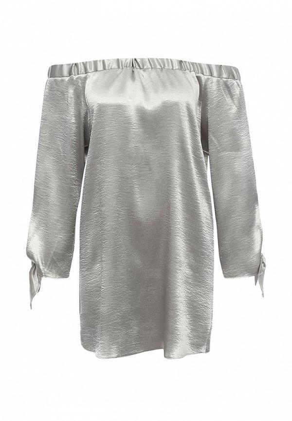 Купить женское платье Edge Street серебрянного цвета