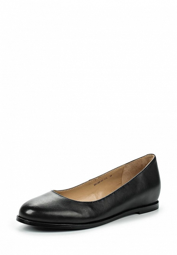 Туфли на плоской подошве Ekonika EN1169-01 black-17L