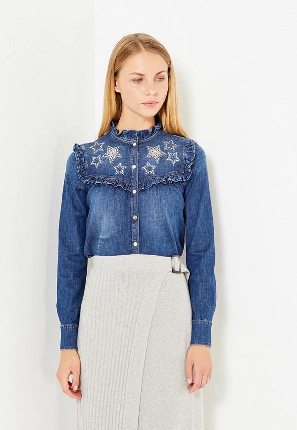 Рубашка джинсовая Elisabetta Franchi Elisabetta Franchi EL037EWUCW82 elisabetta franchi рубашка от elisabetta franchi 55248