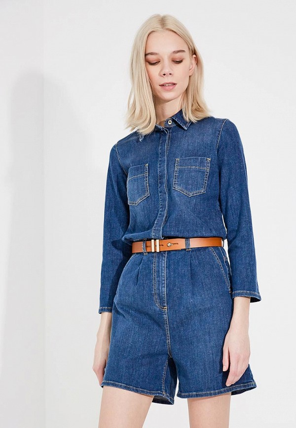 цена Комбинезон джинсовый Elisabetta Franchi Elisabetta Franchi EL037EWYRY58 онлайн в 2017 году
