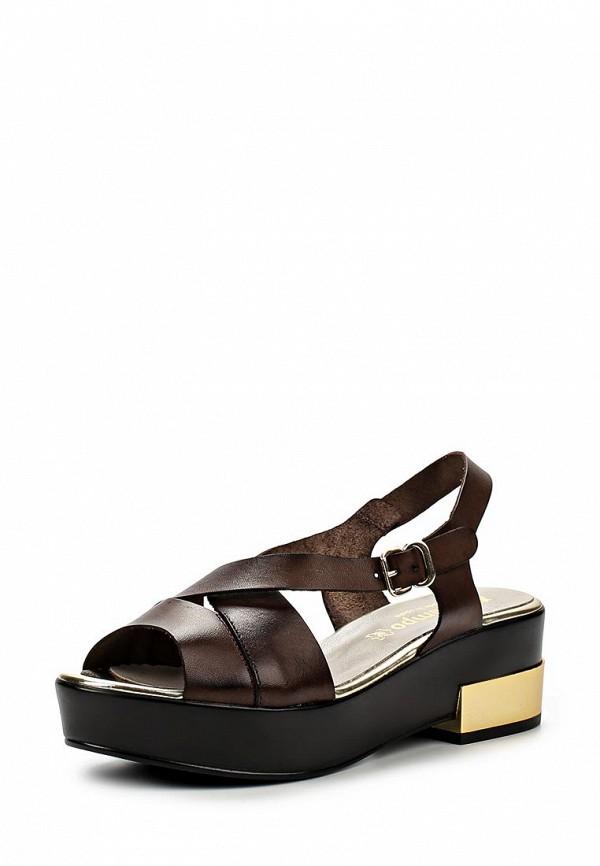 Босоножки на каблуке El Tempo ELU4_5917_COMB3-BROWN