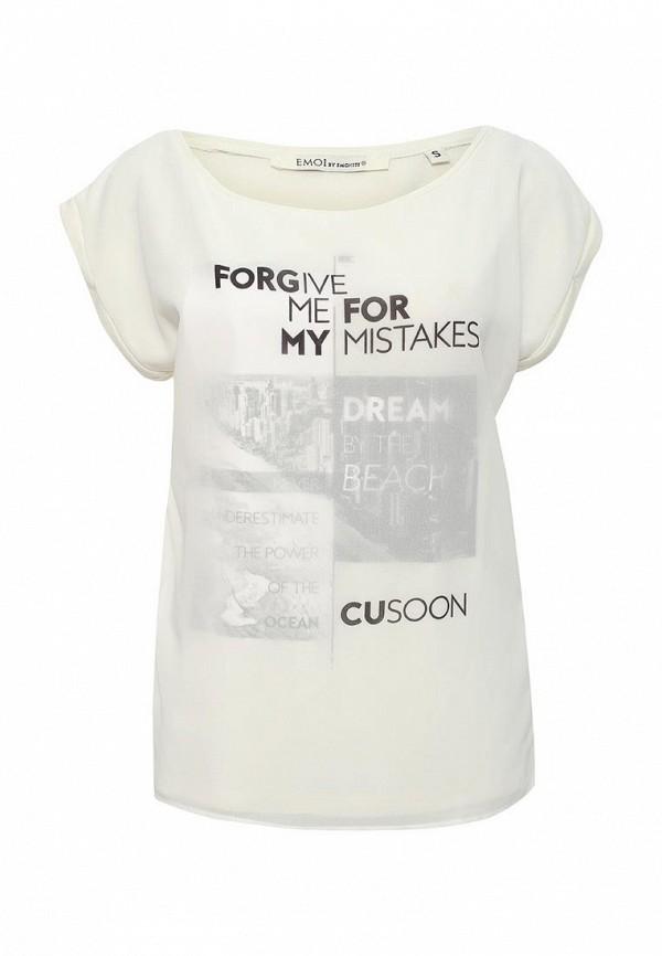 Купить женскую футболку Emoi бежевого цвета