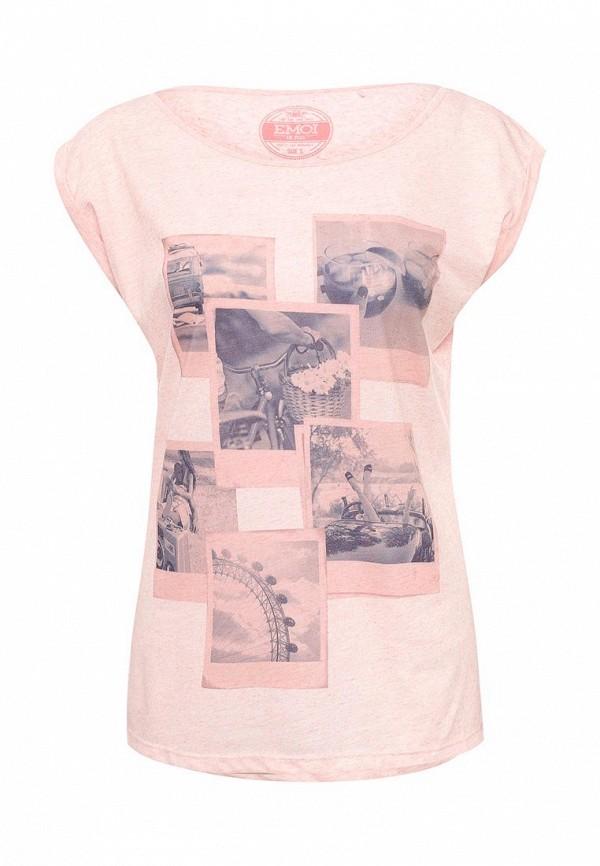 Купить женскую футболку Emoi розового цвета