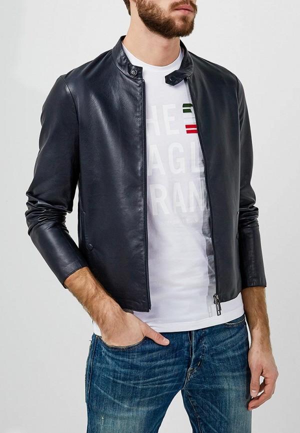 где купить Куртка кожаная Emporio Armani Emporio Armani EM598EMZWG48 по лучшей цене