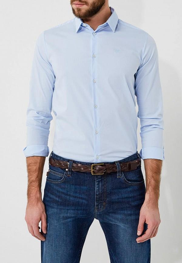 Фото 3 - мужскую рубашку Emporio Armani голубого цвета