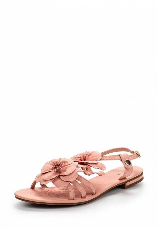 Женские розовые сандалии из нубука