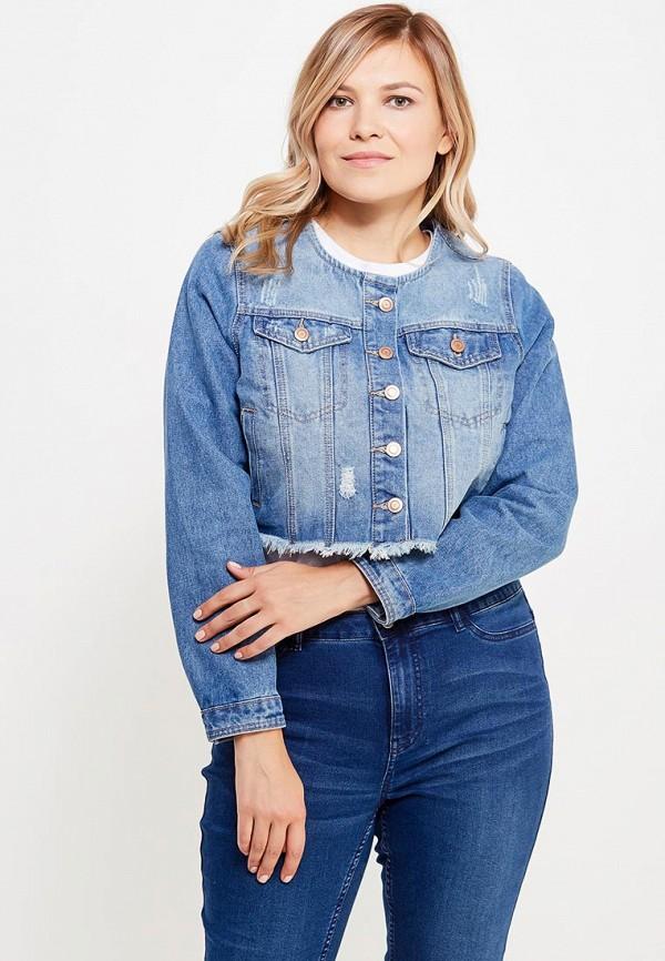Куртка джинсовая Evans. Цвет: голубой