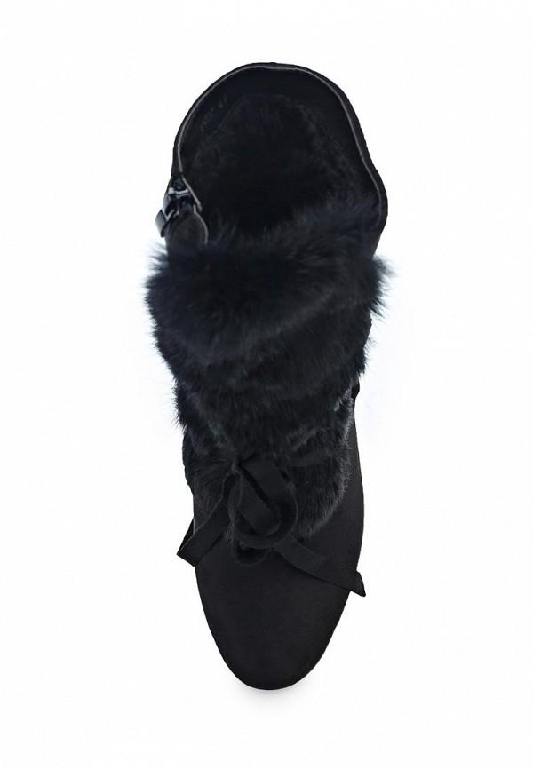 Фото 4 - женские ботильоны Exquily черного цвета