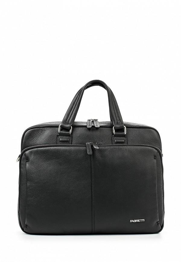 Кожаная сумка Fabretti 4946FAB-A-black
