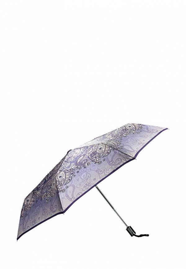 Женский фиолетовый осенний складной зонт