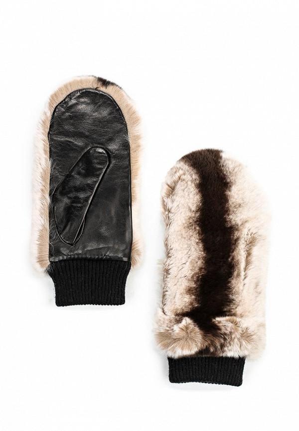 Женские перчатки Fabretti 9.18-2 black/brown