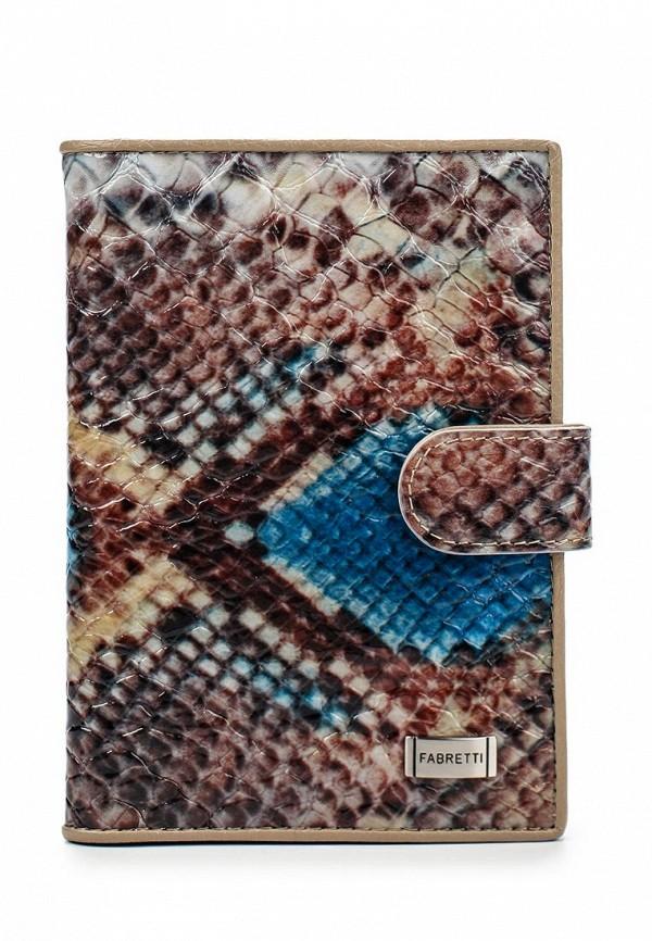Обложка для документов Fabretti 54019-blue/snake L