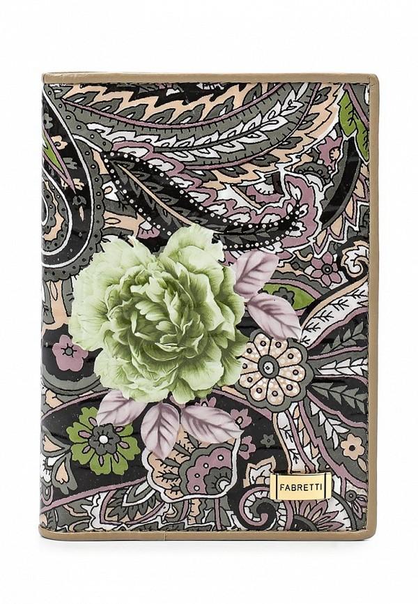 Обложка для документов Fabretti 54019-grey flower