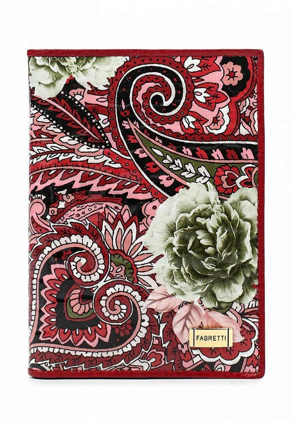 Обложка для документов Fabretti 54019-red flower