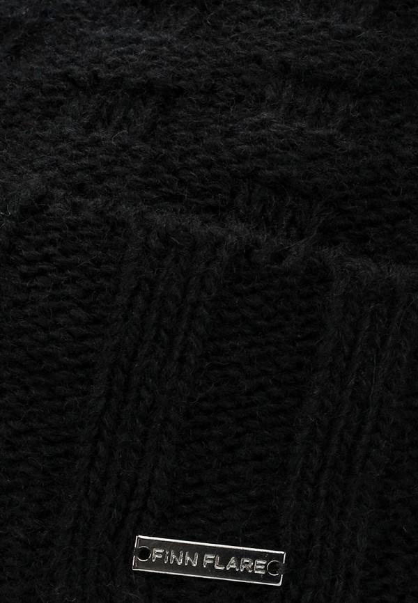 Фото 4 - Шапку Finn Flare черного цвета