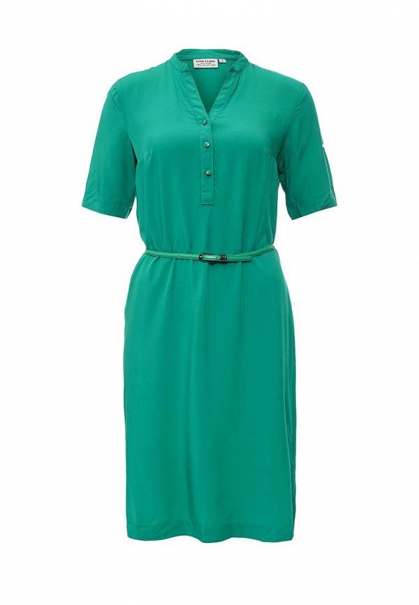 Зеленое осеннее платье Finn Flare