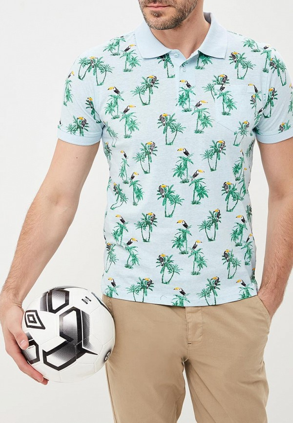 Футболка  бирюзовый цвета