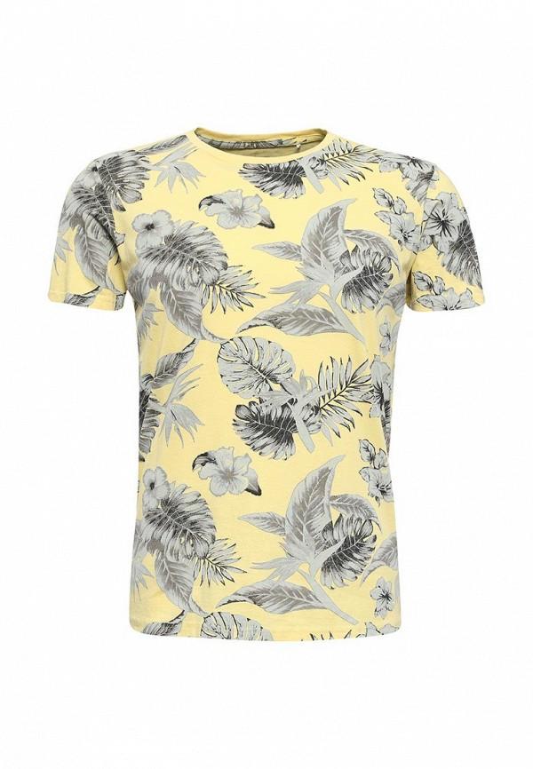 Купить мужскую футболку Fresh Brand желтого цвета