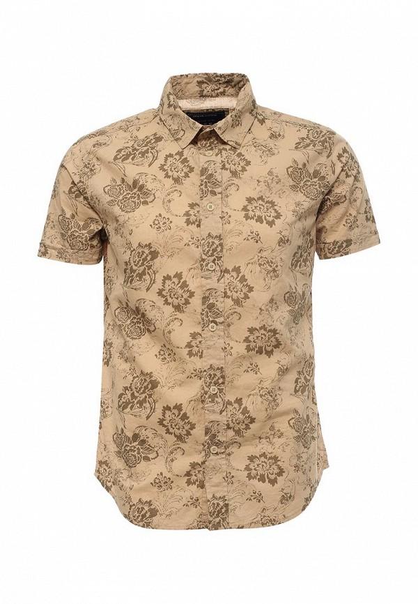 Купить мужскую рубашку Fresh Brand бежевого цвета