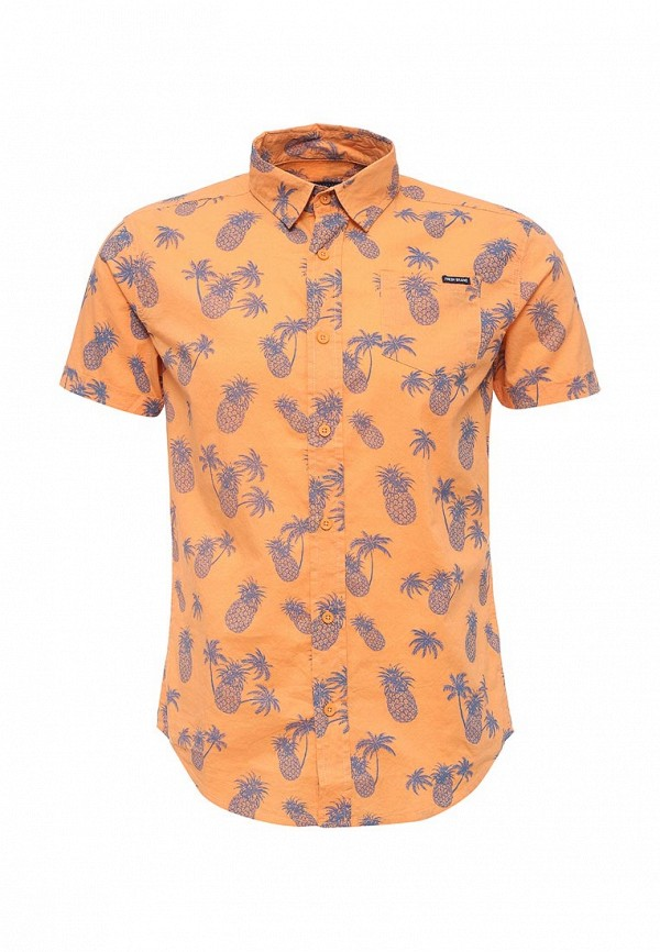Купить мужскую рубашку Fresh Brand оранжевого цвета