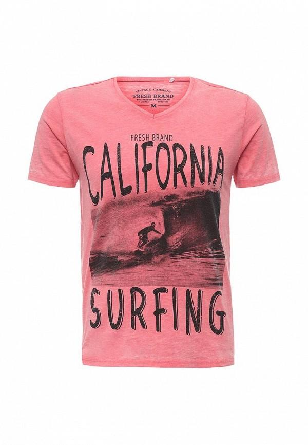 Купить мужскую футболку Fresh Brand розового цвета